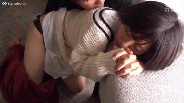 【茜はるか】感じると指を絡ませてくる♡黒髪のパイパン美少女とSEX!!照れた顔も可愛い